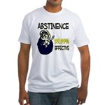 Abstinence: 99.99% Effective Fitted T-Shirt
