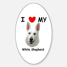 Love My White Shepherd Decal