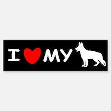 Love My White Shepherd Bumper Bumper Sticker