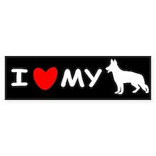 Love My White Shepherd Car Sticker