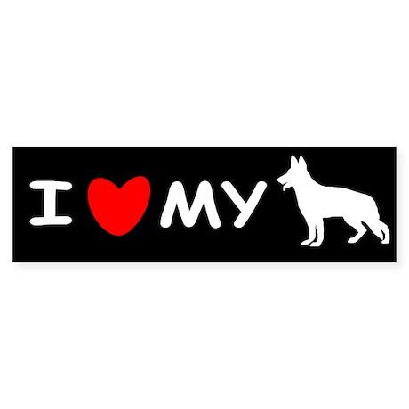 Love My White Shepherd Sticker (Bumper)