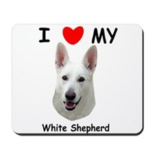 Love My White Shepherd Mousepad