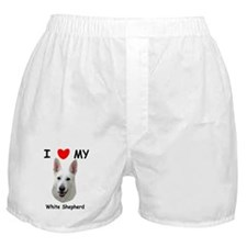 Love My White Shepherd Boxer Shorts
