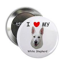 "Love My White Shepherd 2.25"" Button"