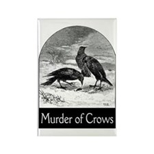 Murder of Crows Rectangle Magnet