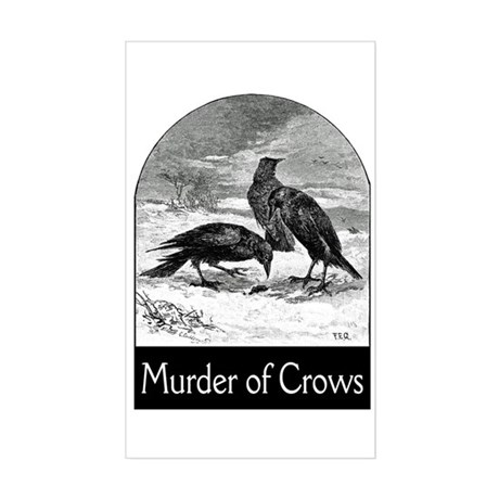 Murder of Crows Sticker (Rectangle)