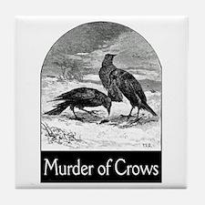 Murder of Crows Tile Coaster