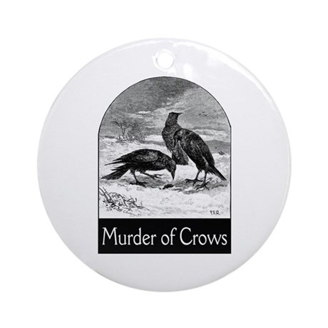 Murder of Crows Ornament (Round)