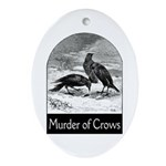 Murder of Crows Ornament (Oval)
