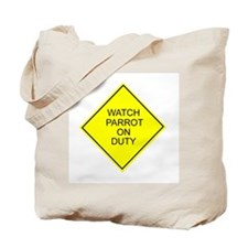 Watch Parrot Tote Bag