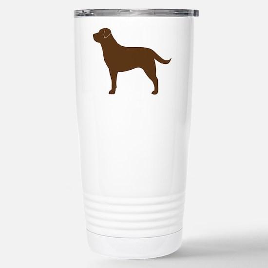 Chocolate Lab Stainless Steel Travel Mug