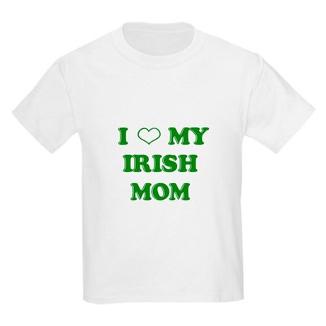 I Love My Irish Mom Kids Light T-Shirt