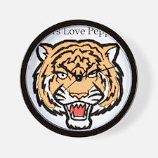 Tigers Love Pepper Wall Clock
