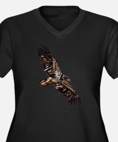 Cute Bald eagles Women's Plus Size V-Neck Dark T-Shirt