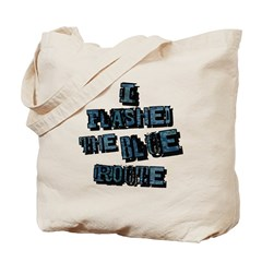 Flashed the Blue Route Tote Bag
