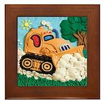 Bulldozer Framed Tile