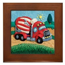 Cement Mixer Framed Tile