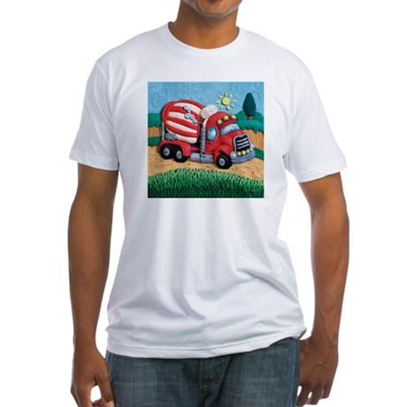Cement Mixer Fitted T-Shirt