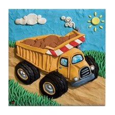 Dump Truck Tile Coaster