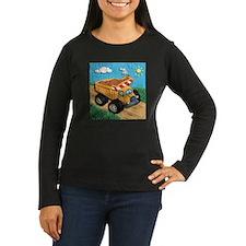 Dump Truck Women's Long Sleeve Dark T-Shirt