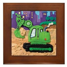 Excavator Framed Tile