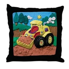 Front End Loader Throw Pillow