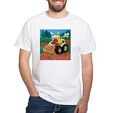 Front End Loader White T-Shirt