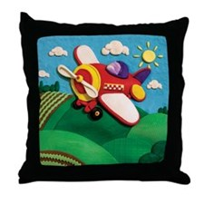 Prop Plane Throw Pillow