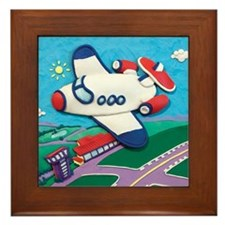 Airplane Framed Tile