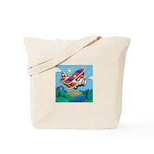 Biplane Aircraft Tote Bag