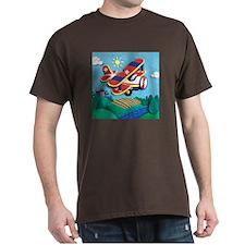 Biplane Aircraft Dark T-Shirt