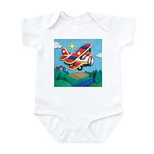 Biplane Aircraft Infant Bodysuit