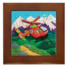 Rescue Helicopter Framed Tile