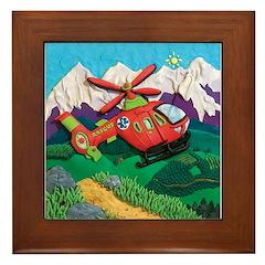 Rescue Helicopter Framed Tile