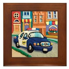 Police Car Framed Tile