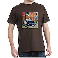 Police Car Dark T-Shirt