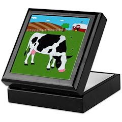 Cow Keepsake Box