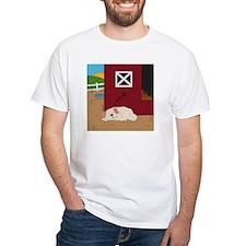 Farm Dog White T-Shirt