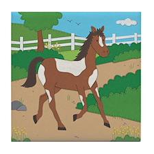 Farm Horse Tile Coaster