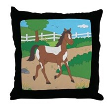 Farm Horse Throw Pillow