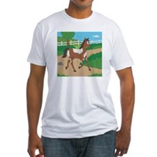Farm Horse Fitted T-Shirt