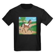 Farm Horse Kids Dark T-Shirt