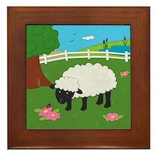 Sheep Framed Tile