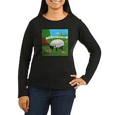 Sheep Women's Long Sleeve Dark T-Shirt