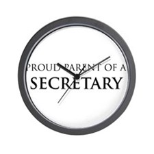 Proud Parent: Secretary Wall Clock
