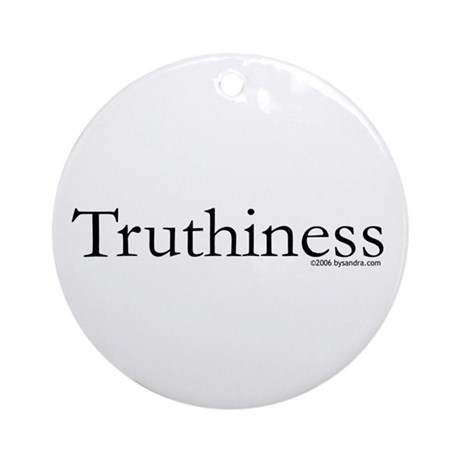 Truthiness Ornament (Round)