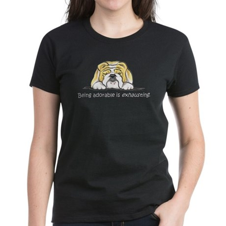 Adorable Bulldog Women's Dark T-Shirt