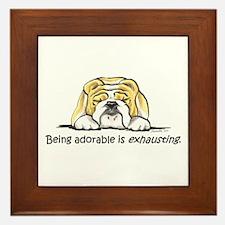 Adorable Bulldog Framed Tile