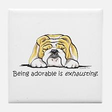Adorable Bulldog Tile Coaster