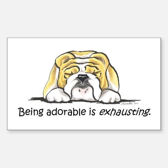 Adorable Bulldog Sticker (Rectangle)